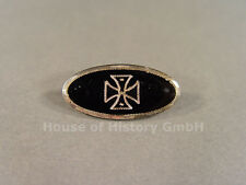 Patriotischer Schmuck, Schwarze ovale Brosche mit EK, Eisernes Kreuz, 95797