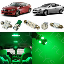 12 Piece Green LED lights interior package conversion kit for Honda Accord #HA1G