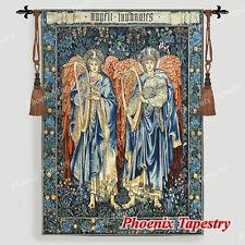 "LARGE William Morris Angeli Laudantes Medieval Tapestry Wall Hanging 55""x41"", UK"