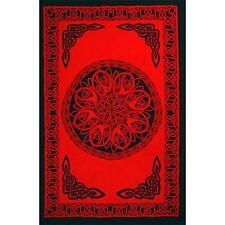 """Celtic Knot Sarong/Altar Cloth 62"""" x 45""""  - Red"""