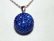 NEW Blue Crystal Ball Pendant