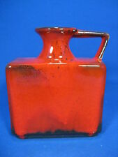 Rare 70´s red Lava glazed Jopeko Keramik vase  023 / 15