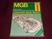 MGB 1962-1980 Repair Manual Roadster GT Coupe 110 cu in 1.8 liter