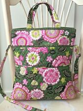 VERA BRADLEY Olivia Pink Fold Over Large Tote Handbag Crossbody Purse Strap