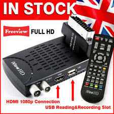Mini SCART Freeview HD Digital TV Receiver Tuner Scart Set Top Box USB Recorder