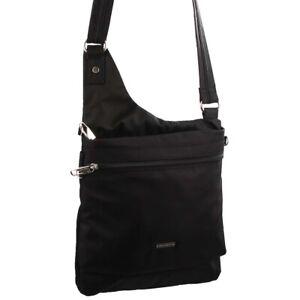 Pierre Cardin Slash-Proof Cross Body Travel Bag Black Navy Taupe