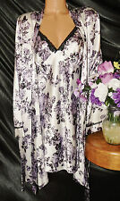 Nightgown,Peignoir Set.  XL, NWT by Apt 9.  Beautiful floral, purple and white.