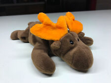 RARE 1993 Original Collectible TY Beanie Baby Chocolate the Moose Toy