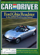 Car and Driver Magazine December 1984 Ford Ghia Roadster VGEX 122915jhe2