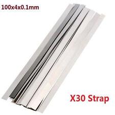Pure Nickel 99.96% Low Resistance Ni Metal Strap Sheet Set 0.1mm*4mm*100mm X30 ♫