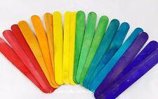 10 spatolette base segnalibro legno colorate 15 cm x 18 mm fimo scrapbooking