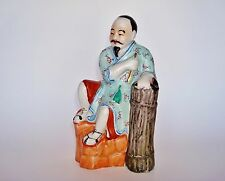 Fine Chinese Porcelain Famille Rose Statue Figurine