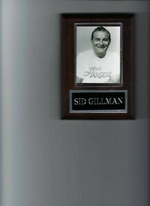 SID GILLMAN PLAQUE SAN DIEGO CHARGERS FOOTBALL NFL