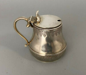 Victorian Silver Gilt Mustard Pot George Fox London 1872 92g AZX