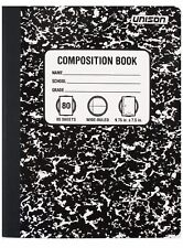 6-Pack Composition Books Wide Ruled Paper Notebook 80 Sheets Each School Office