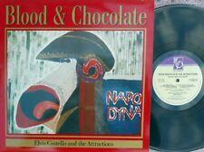 Elvis Costello & Attractions ORIG UK LP Blood & chocolate NM '86 Imp XFIEND80