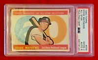 Eddie Mathews Milwaukee Braves 1960 Topps All-Star Card #558 Autographed Signed