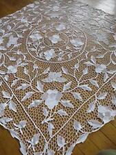 Superbe ancien point de venise aiguille lace table cloth