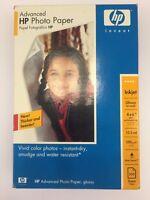 "HP Q7906A Advanced Photo Paper White Glossy 4"" x 6"" 100 Sheet Open Box 90 Left"