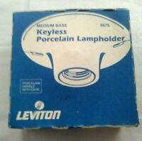 Leviton Keyless Porcelain Lampholder Light Socket 000-9875