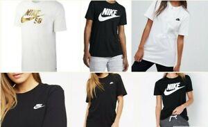 Nike Womens Sports Cotton Tee Shirt Casual Short Sleeve Tops RRP £19.99