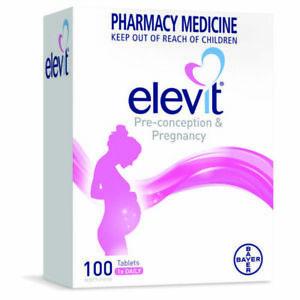 New Elevit Pregnancy Multivitamin 100 Tablets Pre-Conception