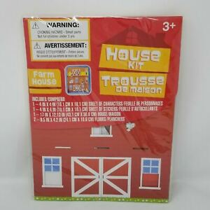 Build a HOUSE Kit FARM house with house, Characters and Stickers