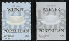 2018 Austria 300 Years Viennese Porcelain MNH stamp + scarce blackprint