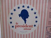 Vintage 1958 The President's Restaurant Menu New York