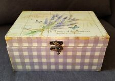 Holzbox mit Deckel Holzkiste Kiste Kästchen chabby chic Lavendel Motiv