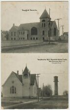 Mt. Vernon Missouri MO Postcard Baptist & Methodist Church Pub. W. H. Sloan