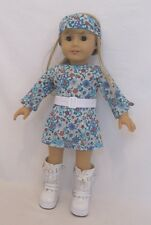 "Doll Clothes Blur Paisley Dress And Headband Set Fits 18"" Americas Girl Dolls"