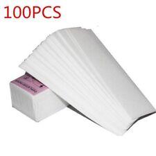 100Pcs Wax Pad Epilator Hair Nonwoven Lady Paper Strips Leg Body Spa Removal cx