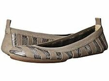 YOSI SAMARA  Mink Pewter Patch Scaled Leather Foldable Ballet Flats Sz. 8 NIB