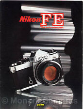 Nikon FE Camera + Lens Range Sales Brochure from 1980, More Catalogues Listed
