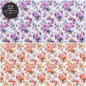 "100% Cotton Lawn, Vintage Floral Patch, Summer, High Quality 58"""