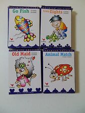 Family Game Night Card Lot Go Fish Crazy 8's Old Maid Animal Match 4 Decks #1276