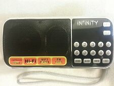 INFINITY Portable Mini Speaker/FM, AM Radio/USB/Micro SD TF Card/MP3 player/AUX