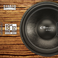 "CT Sounds Strato 18"" D2 800 Watt RMS 18 Inch Dual 2 Ohm Car Subwoofer Audio Sub"