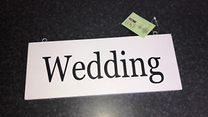 BNWT HOBBYCRAFT WOODEN WEDDING SIGN