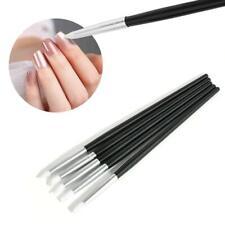 5 Pcs Soft Silicone Nail Art Pens Brush UV Gel Carving Craft Stamp Pencils