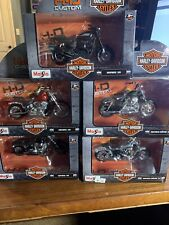 Maisto 1:18 Harley Davidson Lot Of 5