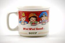 Campbells Soup Bowl Ceramic Kids Ad MM Good Coffee Mug Dish Retro Career 1997