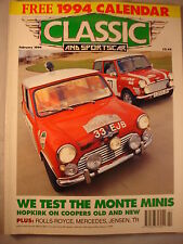 Classic and Sports car magazine - February 1994 - Monte Carlo Mini Coopers