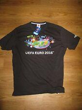 UEFA EURO 2016 FRANCE football L large BNWT black sports top t-shirt shirt