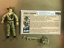 GI JOE 1984 Recondo Figure W/ Red back File Card Complete Seats JC Penney RARE