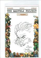 Davide Gianfelice original signed Wolverine tipo sketch on Blank Marvels Project
