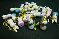 """Easter Tree Decorations, 1 1/2"""" Painted Wooden Bunnies"""