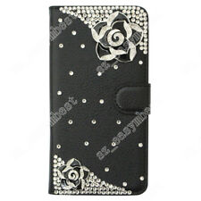 For Samsung Luxury Bling Diamond Leather Flip Wallet Case Cover Hot Phone Shell