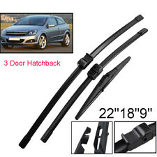 """22""""18""""9"""" Front Rear Windscreen Wiper Blades Set For Holden Astra AH 2005-2012"""